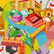 Vodafone ciudades. Un progetto di Illustrazione , e Pubblicità di Óscar Lloréns - 23.07.2009