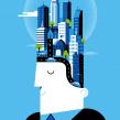 BBVA Ilustración Corporativa.. A Illustration project by Mᴧuco Sosᴧ - 14.12.2013