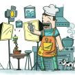 El día del padre tecnológico. Samsung. Un progetto di Illustrazione di Óscar Lloréns - 25.03.2014