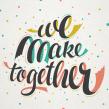 Etsy - We make together. Un proyecto de Tipografía de Martina Flor - 19.10.2014