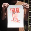 Thank you. Um projeto de Serigrafia e Tipografia de Barba - 30.04.2013