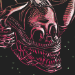 ALIEN HORROR SHOW BY NEW RULE COLLECTIVE. A Graphic Design, Illustration, and Screen-printing project by Copete Cohete - 04.04.2016