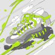 NIKE ANATOMY OF AIR. A Design, Illustration, Grafikdesign, Siebdruck, Urban Art und Infografik project by Copete Cohete - 06.04.2016