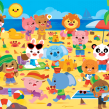 Beach Time!. Un progetto di Design, Illustrazione , e Graphic Design di Pamela Barbieri - 10.11.2016