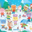 Kawaii Winter!. A Design, Character Design & Illustration project by Pamela Barbieri - 12.20.2016