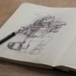 Moleskine SketchBook 2017. Un proyecto de Ilustración de Óscar Lloréns - 14.07.2017