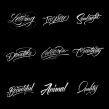 Colección de Lettering con Procreate. A Calligraph, and Lettering project by Daniel Hosoya - 10.27.2017