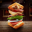 Waffle sandwich. A Illustration, Art Direction, VFX, and Photo retouching project by Mario Olvera - 03.09.2018