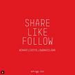 Share Like Follow Bcn. Un projet de Design  de Xavier Grau Castelló - 12.03.2018