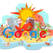 Barcelona Google Doodles. A Design & Illustration project by Óscar Lloréns - 04.11.2018