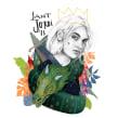 Sant Jordi para FNAC BCN. 2018.. Um projeto de Ilustração e Ilustração de retrato de Beatriz Ramo (Naranjalidad) - 15.04.2018