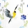 American goldfinch. . Un proyecto de 3D, Animación, Diseño de personajes, Escenografía y Papercraft de Diana Beltran Herrera - 08.07.2018