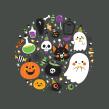 31 Días de Halloween / #31daysofHalloween . A Illustration, Character Design, Drawing, and Digital illustration project by Pamela Barbieri - 10.30.2018
