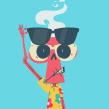 Business Skeleton's Vacation. A Animation, Design von Figuren, Animation von Figuren und 2-D-Animation project by Yimbo Escárrega - 07.07.2018
