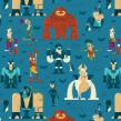 BATMAN. A Illustration, Design von Figuren und Musterdesign project by Christian Michel - 15.11.2018