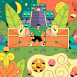 World Cup Google Doodle / México. Um projeto de Direção de arte e Ilustração de Vals - 17.06.2018