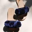 Pom Slip-Ons. A Design, Shoe Design, Creativit, and Fashion Design project by Binge Knitting - 02.11.2019