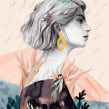 Bienvenida, primavera.. Um projeto de Ilustração, Desenho a lápis, Desenho, Ilustração digital e Desenho de Retrato de Beatriz Ramo (Naranjalidad) - 28.03.2019
