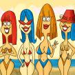 Las chicas de la playa. Um projeto de Ilustração digital de Ed Vill - 05.04.2019