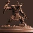 Escultura Minotauro. Un progetto di Animazione 3D, Modellazione 3D , e Character design 3D di Luis Alberto Gayoso Berrospi - 01.05.2019