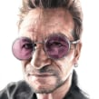 Bono (La Luna de Metrópoli). Un projet de Dessin, Aquarelle, Dessin de portrait, Dessin réaliste , et Dessin artistique de Carlos Rodríguez Casado - 14.05.2019