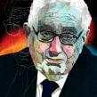 Ilustración de Henry Kissinger para The Washington Post. Um projeto de Ilustração de Alvaro Tapia Hidalgo - 07.09.2014