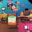 Escenario (Proceso comentado). Un proyecto de Ilustración digital, Videojuegos y Pixel art de Daniel Benítez - 13.02.2018
