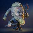 Ragnar Lodbrok. A 3-D, Design von Figuren und Design von 3-D-Figuren project by Román García Mora - 15.03.2018