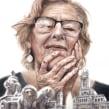 Manuela Carmena. A Illustration, Drawing, Watercolor Painting, Portrait illustration, Portrait Drawing, Realistic drawing, and Artistic drawing project by Carlos Rodríguez Casado - 08.04.2019