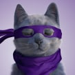 Champion Cat Maestro. A 3D, Character animation, 3D Animation, 3d modeling, and 3D Character Design project by Juan Paulo Mardónez - 08.19.2019