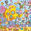 ¡Bien Escondidos! (Jardín de Genios) . A Illustration, Character Design, Graphic Design, Vector Illustration, Digital illustration, and Children's Illustration project by Pamela Barbieri - 08.19.2019