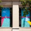 Splash! -> DM Òptics. Un projet de Design , Direction artistique, Design d'intérieur, Scénographie , et Broderie de Señorita Lylo - 01.09.2019
