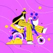 Hortencia. Un progetto di Disegno, Character Design e Illustrazione di Chabaski - 04.09.2019