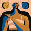 Planetas . Un progetto di Character Design, Illustrazione e Illustrazione digitale di Chabaski - 04.09.2019