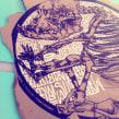 Experimentación - intervención y Collage. Um projeto de Design, Artes plásticas, Pintura, Colagem, Caligrafia e Concept Art de TECK24 - 08.09.2019