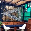 Vintrash Bar. Un projet de Br, ing et identité, Design graphique, Design d'intérieur, Peinture, Écriture, Calligraphie, Art urbain, Lettering, Créativité, Art conceptuel , et Dessin artistique de TECK24 - 09.09.2019