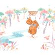 """Bingata"". A Illustration project by Flor Kaneshiro - 09.30.2019"