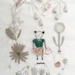 Cómo bordar un jardín de dedaleras. A Embroider, and Textile illustration project by Adriana Torres - 12.01.2017
