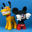 Anxious Mickey & Manic Pluto. A Crafts, and Sculpture project by Luaiso Lopez - 11.12.2017