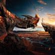 El último dragón. Um projeto de Direção de arte, Ilustração digital e Concept Art de Jonathan Chafloque - 11.09.2018