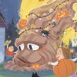 El árbol de Halloween. Um projeto de Ilustração de Teresa Martínez - 13.09.2019