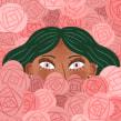 Roses. Un projet de Illustration, Illustration numérique et Illustration de portrait de Sara Tomate - 14.12.2019