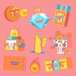 Snapchat - Sticker pack Vol.2. A Illustration project by Jorsh Peña - 01.31.2020