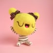 Ceecee, cotton candy girl - Banana. Um projeto de Design de personagens, Artesanato, Artes plásticas, Escultura, To e Art de droolwool - 04.02.2020