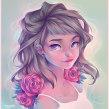 Roses. Um projeto de Ilustração digital de Natália Dias - 13.02.2020