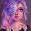 Galaxy hair. Um projeto de Ilustração digital de Natália Dias - 13.02.2020