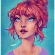 Another hair and color study. Un progetto di Illustrazione digitale di Natália Dias - 13.02.2020