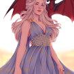 Daenerys. Um projeto de Ilustração digital de Natália Dias - 13.02.2020