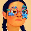 Crazy Eyes. A Digital illustration, and Portrait illustration project by Samuel Rodriguez - 12.15.2018