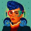 Diamonds and Pearls. Um projeto de Ilustração, Ilustração digital e Ilustração de retrato de Samuel Rodriguez - 02.01.2020